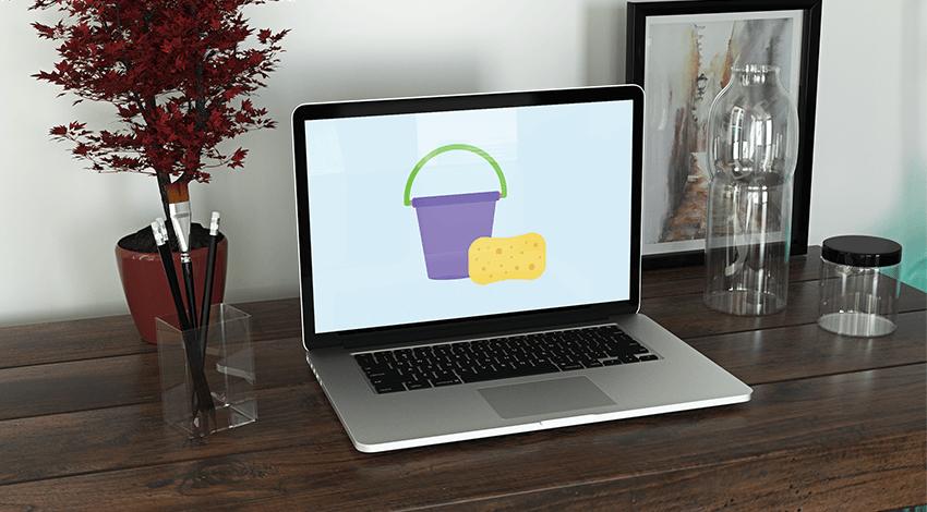 clean macbook pro