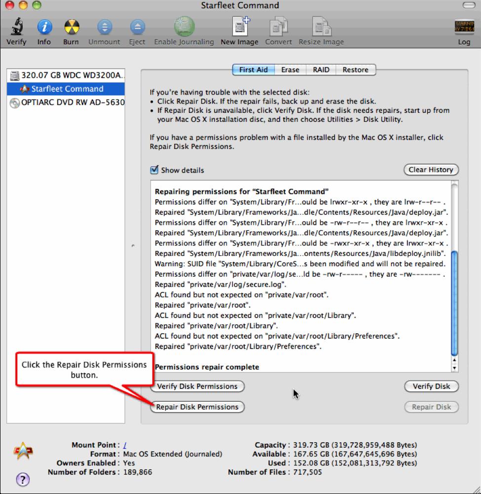 disk permission