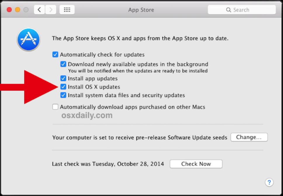 macOS updates